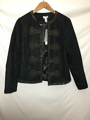 Chicos Military Glam Napoleon Jacket Womens Size Small / 4 Chicos 0 NWT $149