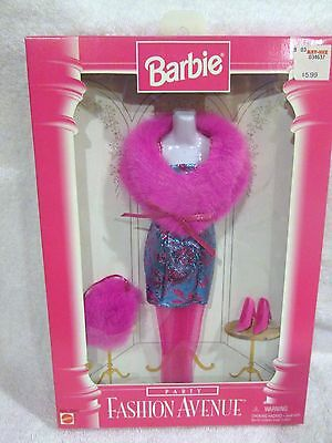 NEW Mattel 1996 ~ Barbie Fashion Avenue Pink PARTY Dress Outfit #15862