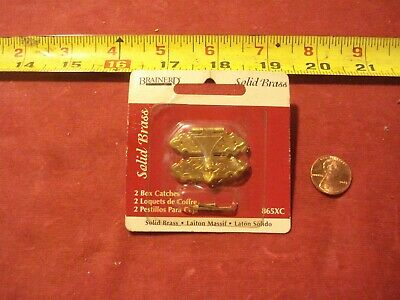 (0611.) Box Catches 1-Pair Solid Brass