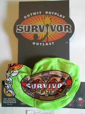 Cbs  Survivor , Season  14 , Fiji , Lime  Green  Moto  Buff