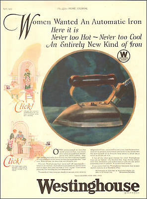 1925 rare old ad westinghouse automatic iron, turns itself off and on 102318