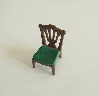PLAYMOBIL (J2131) EPOQUE 1900 - Chaise Marron Assise Vert ...