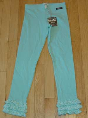NWT Matilda Jane Friends Forever aqua Lacey leggings 8