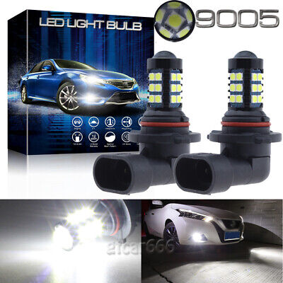 2x 30SMD H10 9145 LED 6000K Xenon White Fog Light DRL Running Bulbs High Power