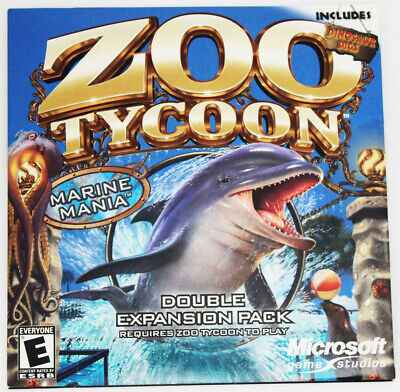 MICROSOFT ZOO TYCOON 2 Marine Mania Double Expansion Pack PC NEW SEALED Game