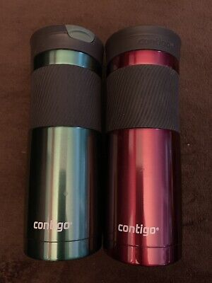 Contigo SnapSeal Byron Travel Mug Stainless Steel Grayed Jade And Pink 20oz