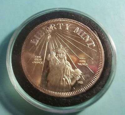 LIBERTY MINT  1oz of .999 FINE SILVER ROUND,(C19)
