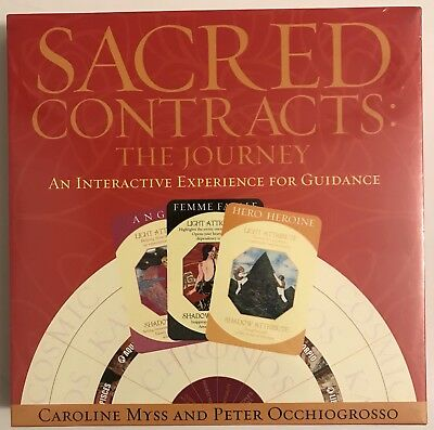 Sacred Contracts The Journey Board Game Myss Occhiogrosso SELF HELP GUIDANCE