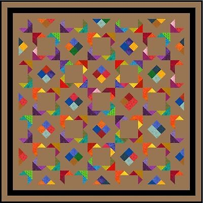 """IZABELLA - 62.5"""" - Pre-cut Quilt Kit by Quilt-Addicts Doube size"""