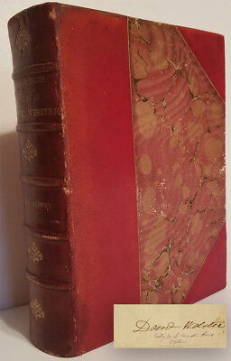 Daniel Webster REMINISCENCES & ANECDOTES 1st ed 1877 + SIGNED LETTER 1842