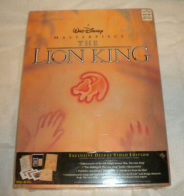 The Lion King Exclusive Deluxe Video Edition- Sealed New in the Box