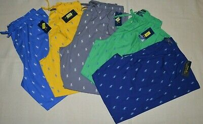 317bf494 POLO RALPH LAUREN Men's Pajamas Lounge Pants Sleepwear Pony All Over Cotton  New
