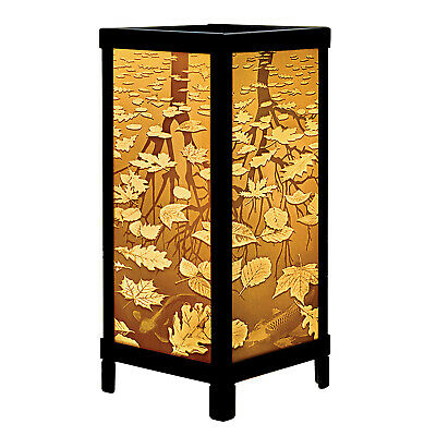 Fall Leaves & Trees Luminaire Lithophane - Lantern Style Accent Lamp Light