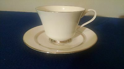Lenox Usa Oxford Bone China Lexington Pattern Cup & Saucer Set (16-C)