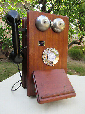 Vintage Telephone Wall Phone  C1940   *Delightful*