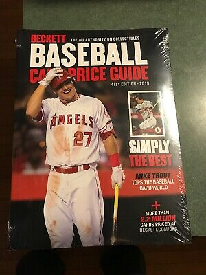 2019 BECKETT BASEBALL Annual Card Price Guide 41st Edition Mike Trout On  Cover