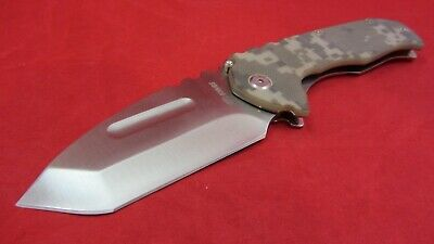 SR SR590 Large Folding Knife with Frame Lock G10 Handle - CAMO