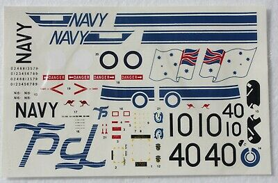 Aussie Decals 1:72 scale for a Westland Seaking Helicopter 75th Anniversary RAN