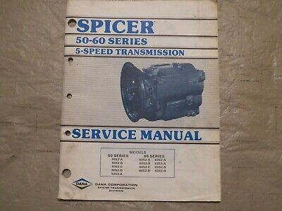 SPICER R 8000 SERIES 3 Speed Transmission Service Shop