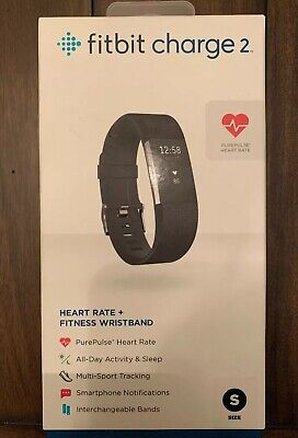 SEALED ~ NEW FITBIT CHARGE 2 HEART RATE & ACTIVITY TRACKER - Small (Black)