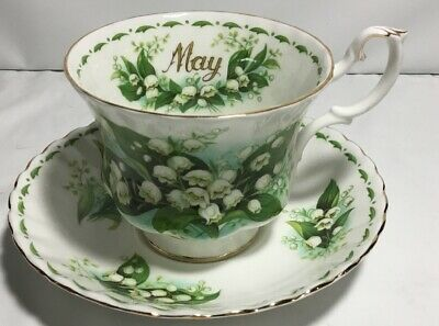 Two  Piece Royal Albert Flower of the Month May Lilly of the Valley