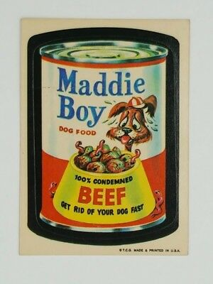 """1973 Wacky Packages Series 1 """"Maddie Boy"""""""