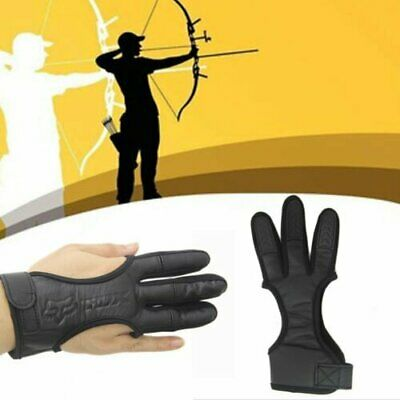3 Finger Archery Glove Guard Protection Compound Recurve Bow Hunting Target Gear