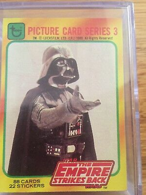 Star wars Topps trading cards 1980 Empire Strikes Back Series 3