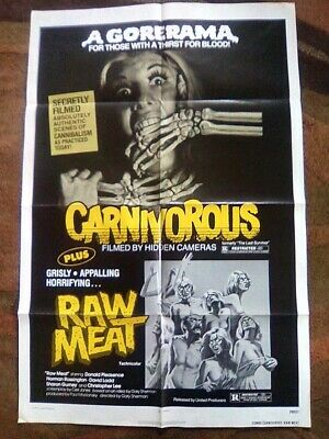 Carnivorous  /  Raw Meat -  1979.....one-Sheet.....ex/nm