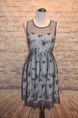 ac7bf994 Modcloth Cherished Charm Dress Navy NWOT L Geode Exclusive Lace Illusion  Party