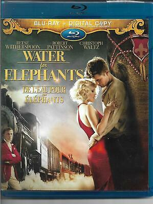 Water for Elephants! Bluray! 2 Disc Set! Reese Witherspoon! Romantic Drama!
