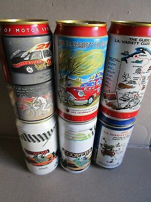 COLLECTABLE west end CAR RACING CANS X 6, TOP NICK !!!
