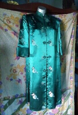 vintage chinese silk dressing gown
