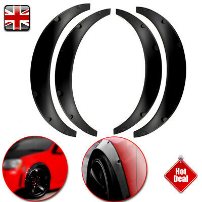 4 Universal Widened Fender Flares Wheel Arch ABS Car Fittings 2 long 2 short