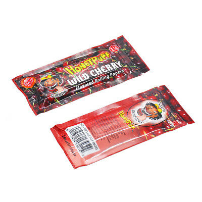2 booklets 1 1/4 Cherry Fruit Flavored Rolling Papers Cigarette  (64 leaves)