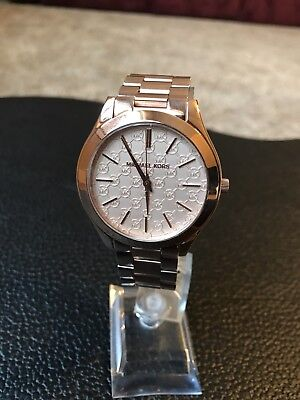 aff0f61f0357 Michael Kors MK3336 Women s Slim Runway Rose Gold-Tone 42mm Ladies Watch NWT