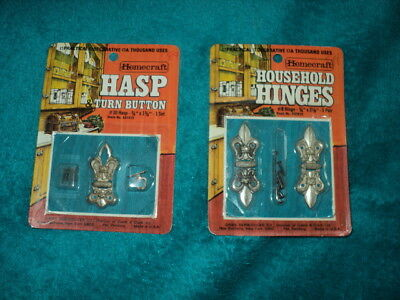 Homecraft - Household Hinges & Turn Button Hasp Craft Supplies