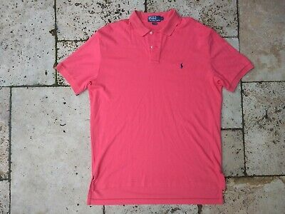 M Ralph Lauren Supersoft Authentic Pink Red Short Sleeve Designer Polo Shirt