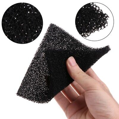 5Pcs Universal Black Activated Carbon Foam Sponge Air Filter Impregnated Sheet