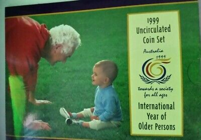 1999 uncirculated coin set INTERNATIONAL YEAR OF OLDER PERSON