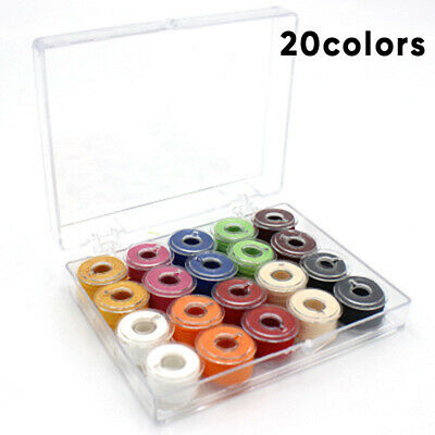 20x Colorful Sewing Machine Thread And Bobbins With Storage Case Box DIY Supply