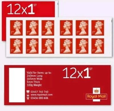 Royal Mail Stamps 10 x FIRST 1st class Book of 12 Letter Stamps: 120 stamps WOOO