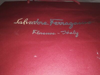 Salvatore Ferragamo shopping bag to hold a shoe box. Kraft paper bag only corded