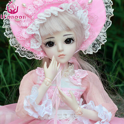 60cm BJD SD 1/3 Body Model Reborn Baby Girl Doll Toy Free Makeup With All Outfit