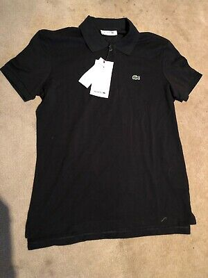 Lacoste, Poloshirt, Black, Mens, Size 38, Classic Fit