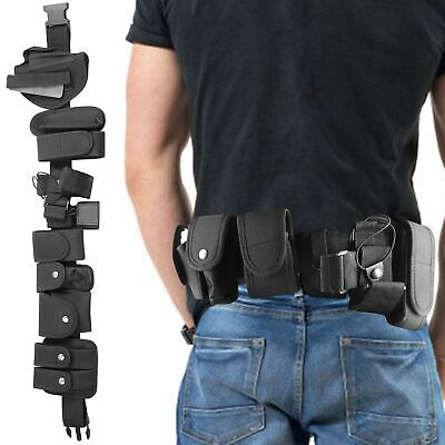 Police Guard Tactical Belt Buckles With Pouches Utility Kit Security System UK