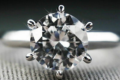 Round Cut Ring Real 14K White Gold Solitaire Engagement 3 Ct Anniversary Genuine