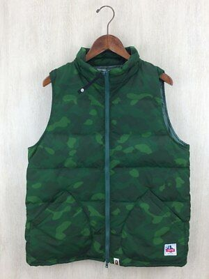 93ab0a8929b9 A BATHING APE COLOR CAMO DOWN VEST JACKET GREEN (M) Bape Authentic Rare