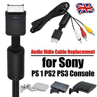 Audio Video AV Cable Replacement for Sony PS2 PS3 Console Lead Wire 1.5m
