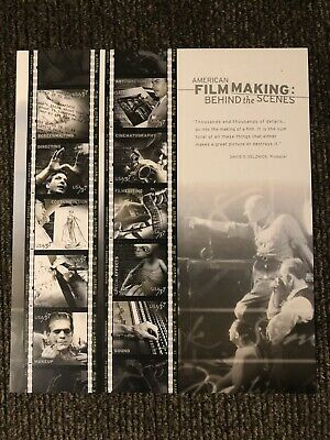 "American Film Making ""behind The Scenes"" Mint Sheet"
